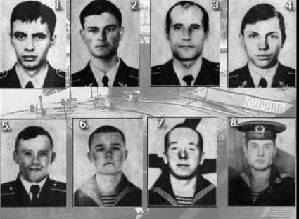 Погибшие моряки Курска