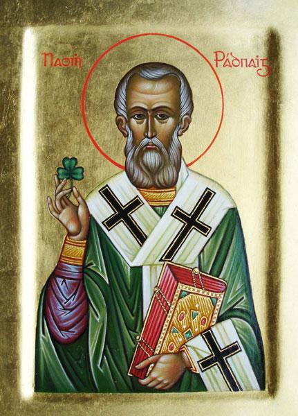 Православный Святой Патрик, икона новосибирской художницы Екатерины Платошечкиной