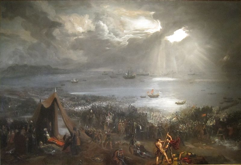 Battle of Clontarf, oil on canvas painting by Hugh Frazer, 1826, Isaacs Art Center