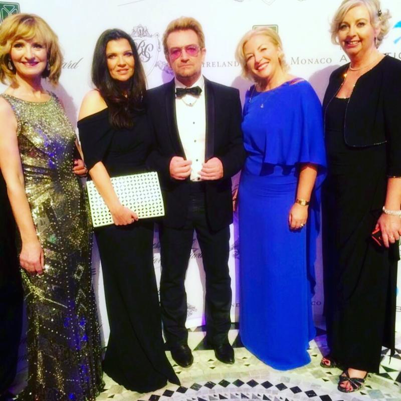 Adi Roche, Ali Hewson,Bono, Liz O'Donnell and