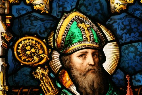 Фреска Святого Патрика в одном из соборов Ирландии