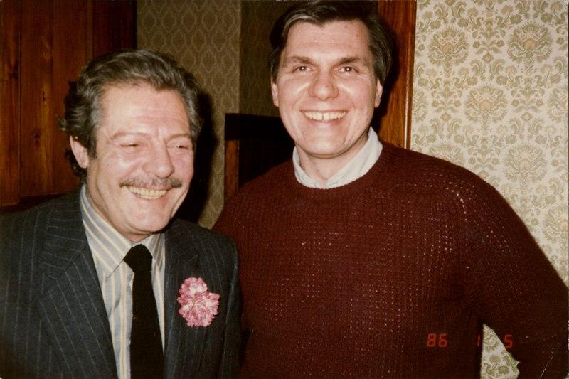 Марчелло Мастроянни в гостях у Николая Ващилина во время съёмок фильма Никиты Михалкова
