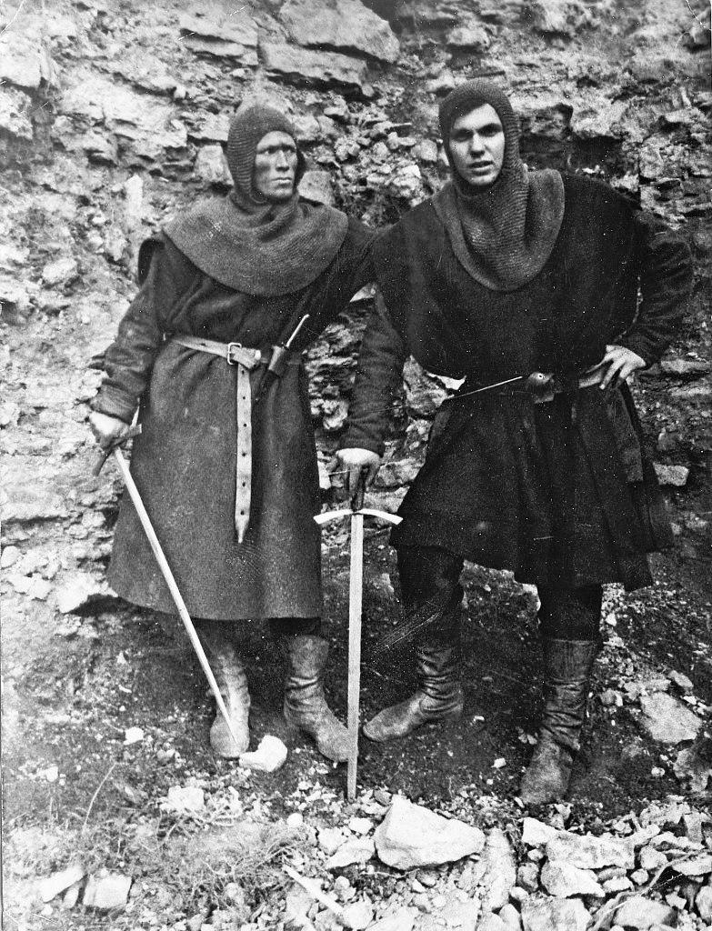 Король Лир. каскадёры О.Василюк и Н.Ващилин ,Нарва.1969