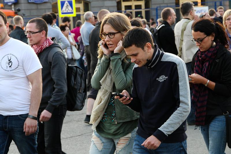 Ксения Собчак и Илья Яшин Фотография блогера Gelbert 6 мая2012, Москва