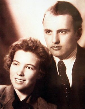 Горбачёв с супругой